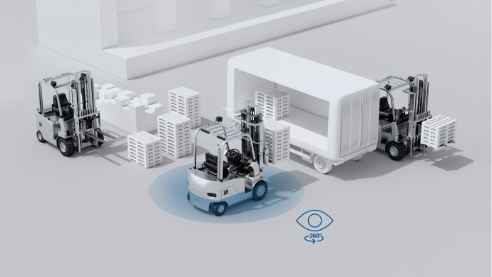 Bosch launches multi-camera system on the logistics market